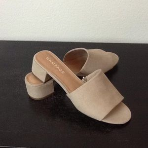 Suede sandals NWOT